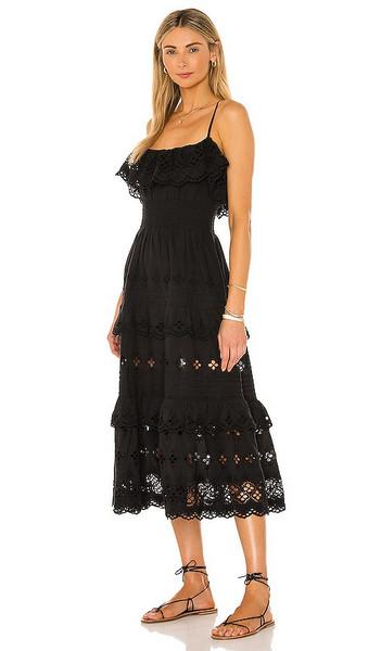 Lovers + Friends Lovers + Friends Dallas Midi Dress in Black