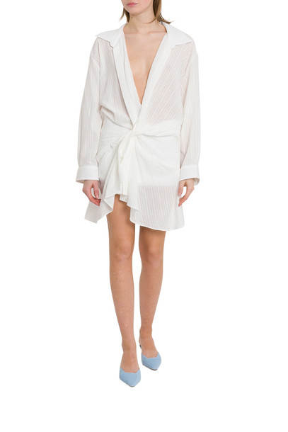 Jacquemus La Robe Alassio Dress in bianco