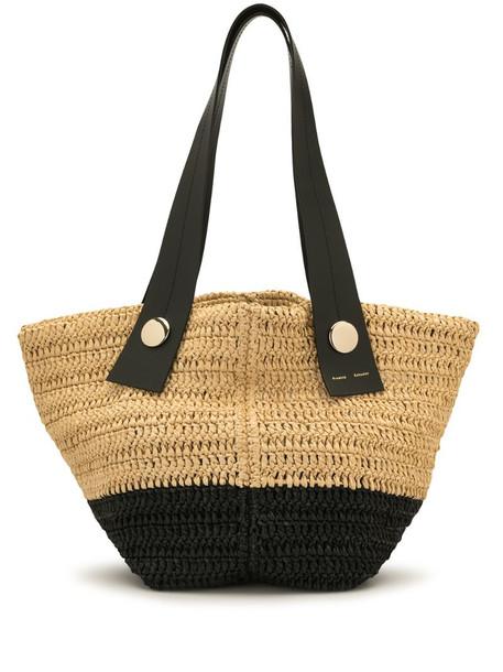 Proenza Schouler small Tobo raffia tote bag in neutrals