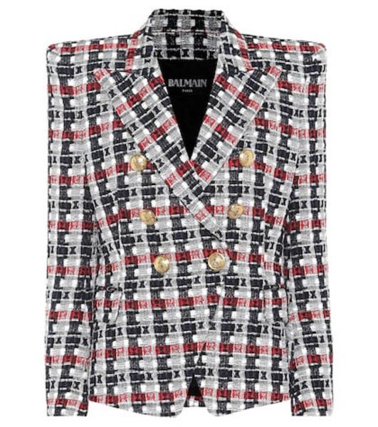 Balmain Metallic tweed blazer
