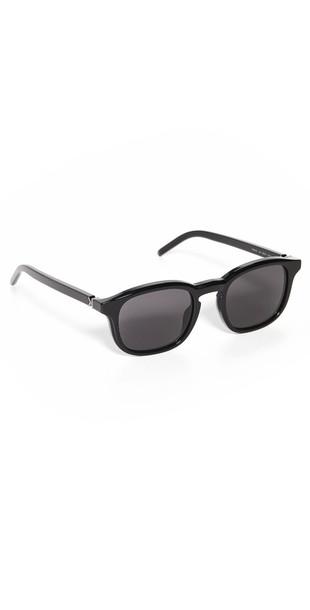 KENZO Kenzo Square Sunglasses in black / gold
