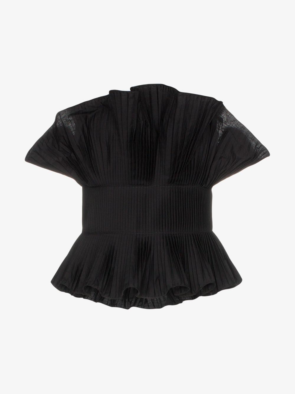 Johanna Ortiz andaliza hechiceria ruffle pleat top in black