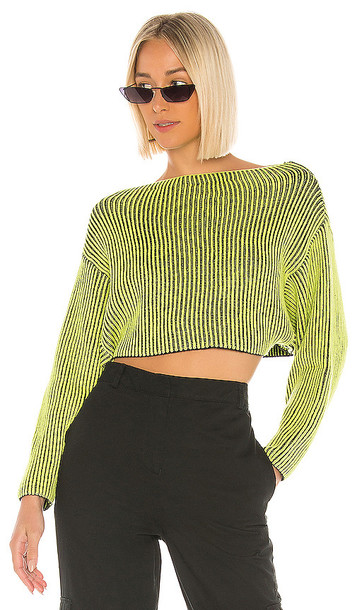 superdown Mae Cropped Sweater in Yellow
