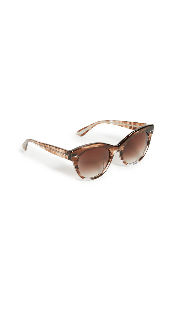 Oliver Peoples The Row Georgica Sunglasses in brown