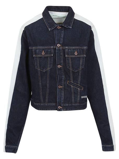 Off-White Off White Stripe Detail Denim Jacket