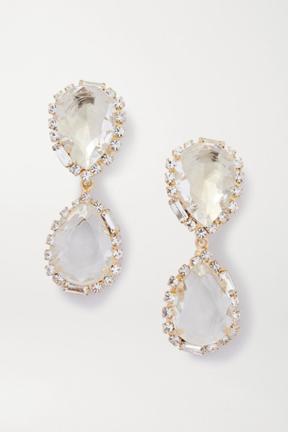 Rosantica - Cuori Gold-tone And Crystal Clip Earrings