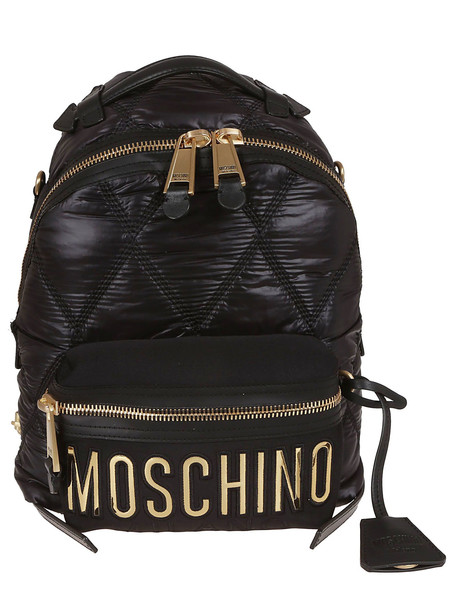 Moschino Logo Backpack in black