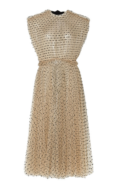 Khaite Alix Polka Dot Tulle Dress Size: 2 in neutral