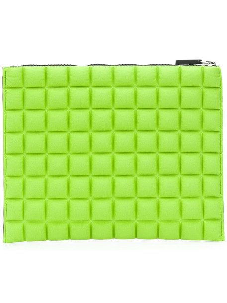 No Ka' Oi chocolate bar quilted clutch in green