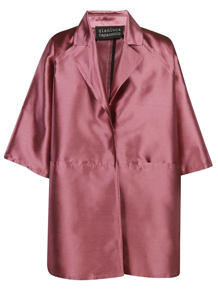 Gianluca Capannolo Emma Button Open Coat in pink