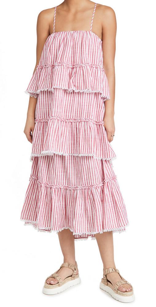 Cinq a Sept Avva Dress in red / white