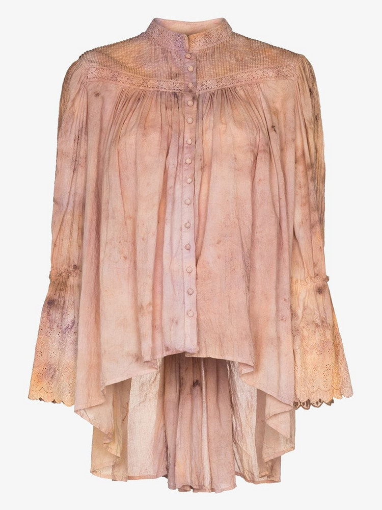 MIMI PROBER Bronte organic cotton blouse in pink