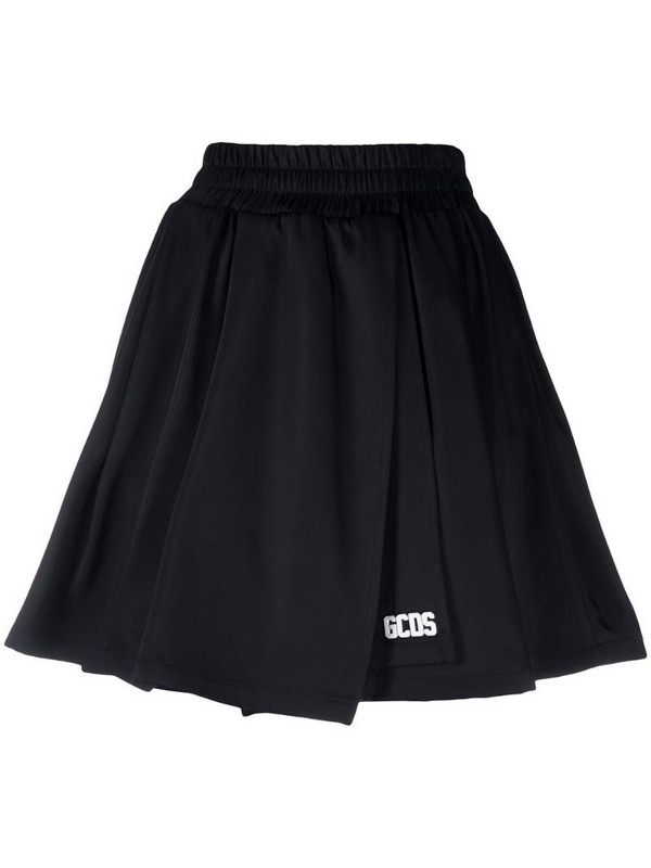 Gcds pleated mini skirt in black