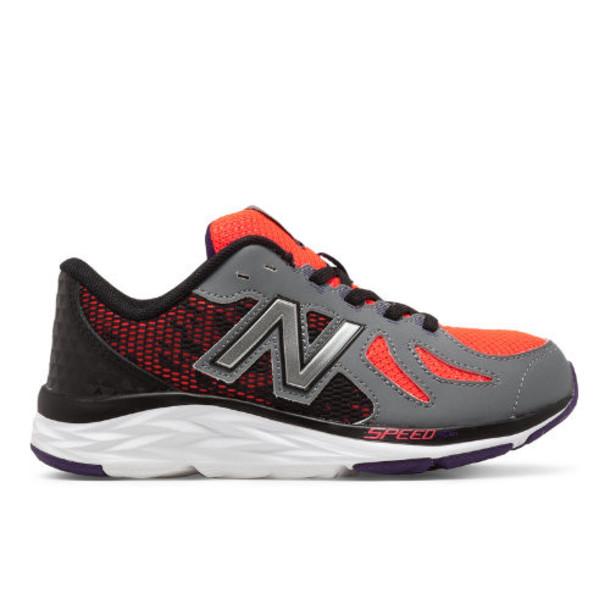 New Balance 790v6 Kids Grade School Running Shoes - Orange/Grey (KJ790OBY)