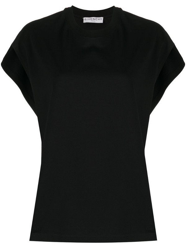 Givenchy cap sleeves T-shirt in black