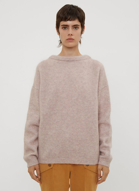 Acne Studios Loose Knit Crew Neck Sweater in Green size XS