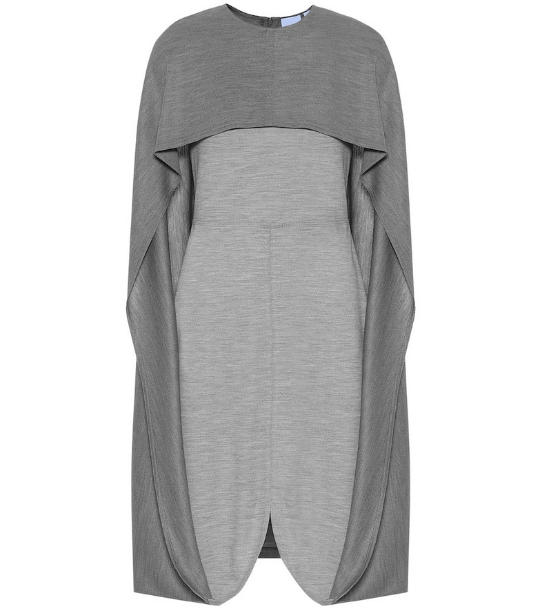Burberry Wool-jersey midi dress in grey