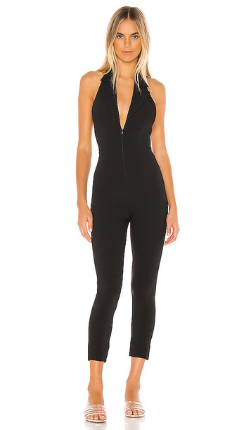 superdown Pam Blazer Jumpsuit in Black