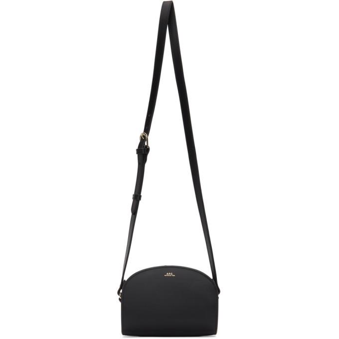 A.P.C. A.P.C. Black Mini Demi-Lune Bag