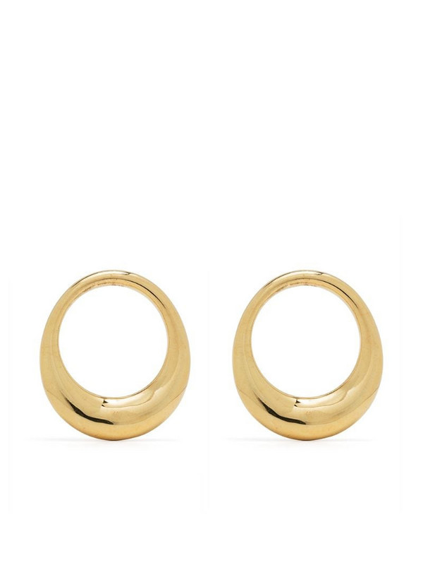 BONVO Lune hoop earrings in gold