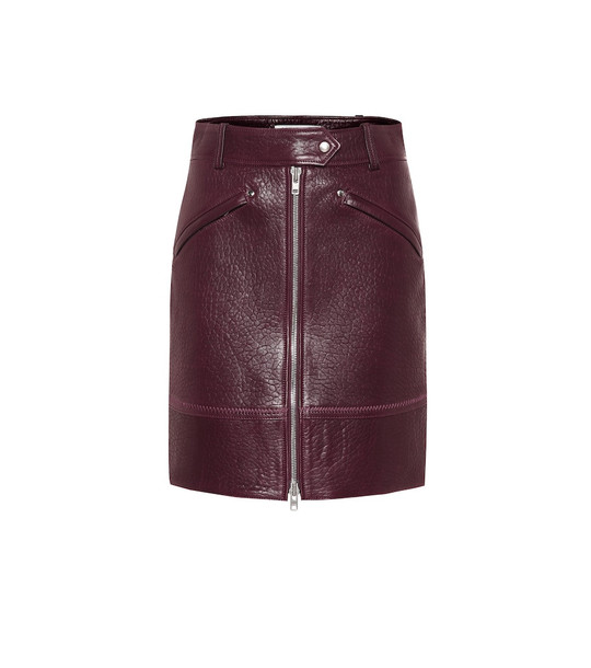Kenzo Leather miniskirt in red