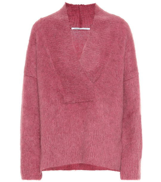 Agnona Wool and mohair-blend sweater in pink