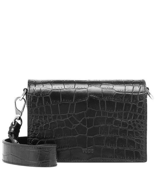 Tod's Micro leather crossbody bag in black