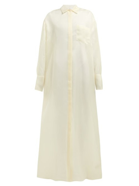 The Row - Siena Silk Organza Shirtdress - Womens - Cream