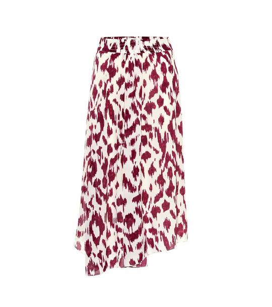 Isabel Marant, Étoile Yeba printed silk midi skirt in pink