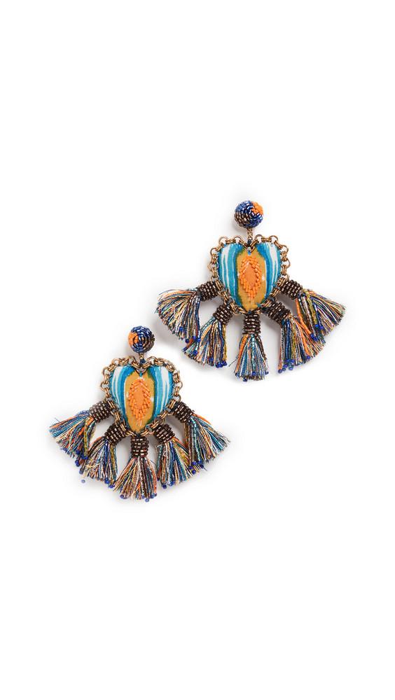 Deepa Gurnani Deepa by Deepa Gurnani Zaina Earrings in blue