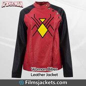 coat,spider woman,marvel,jacket,fashion,style,womenswear,lifestyle,women's fashions