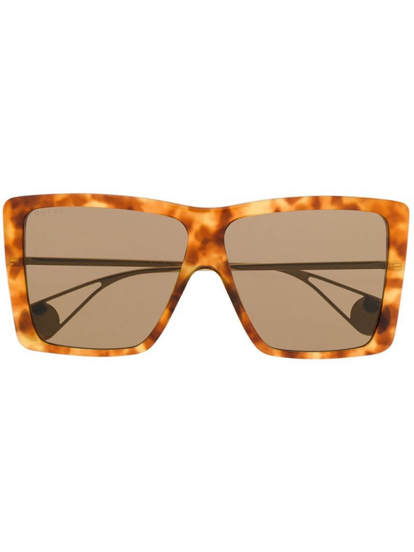 Gucci Eyewear oversized square frame sunglasses in brown