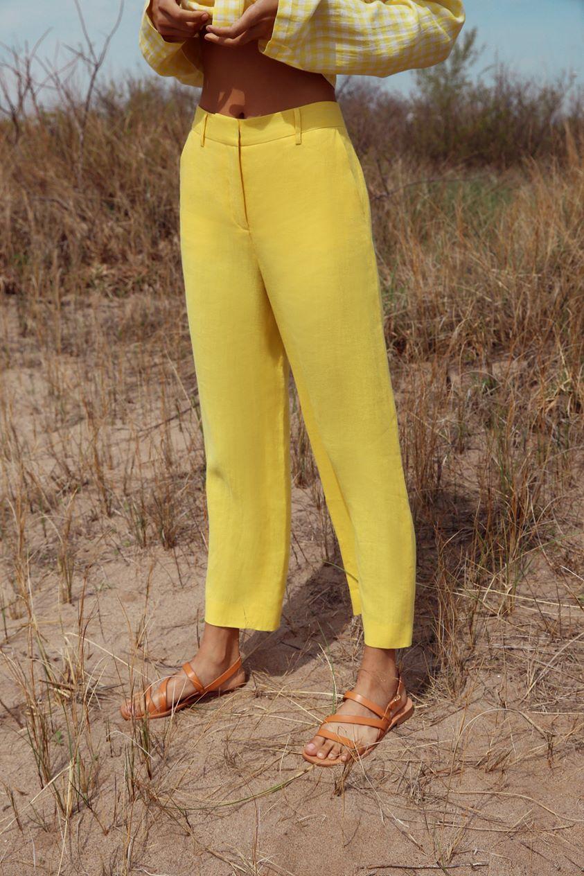 Linen Straight Pant - Sun
