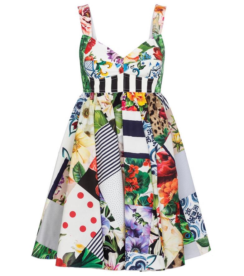 Dolce & Gabbana Patchwork cotton-blend minidress