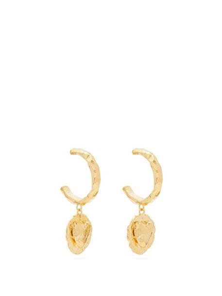 Elise Tsikis - Jalla Heart Gold-plated Hoop Earrings - Womens - Gold