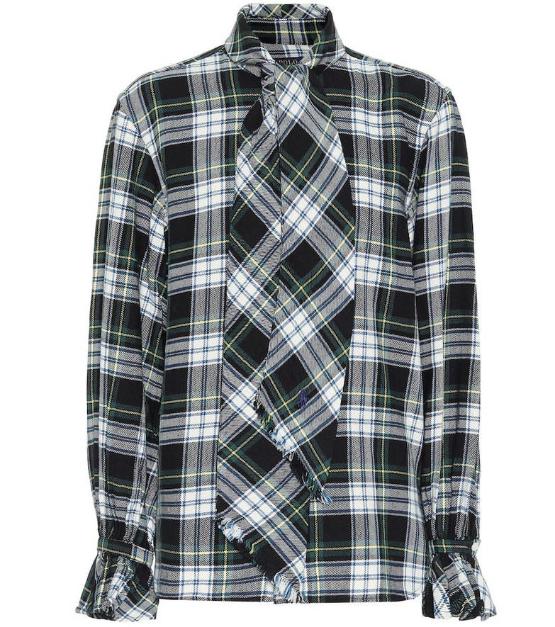 Polo Ralph Lauren Checked cotton shirt in black