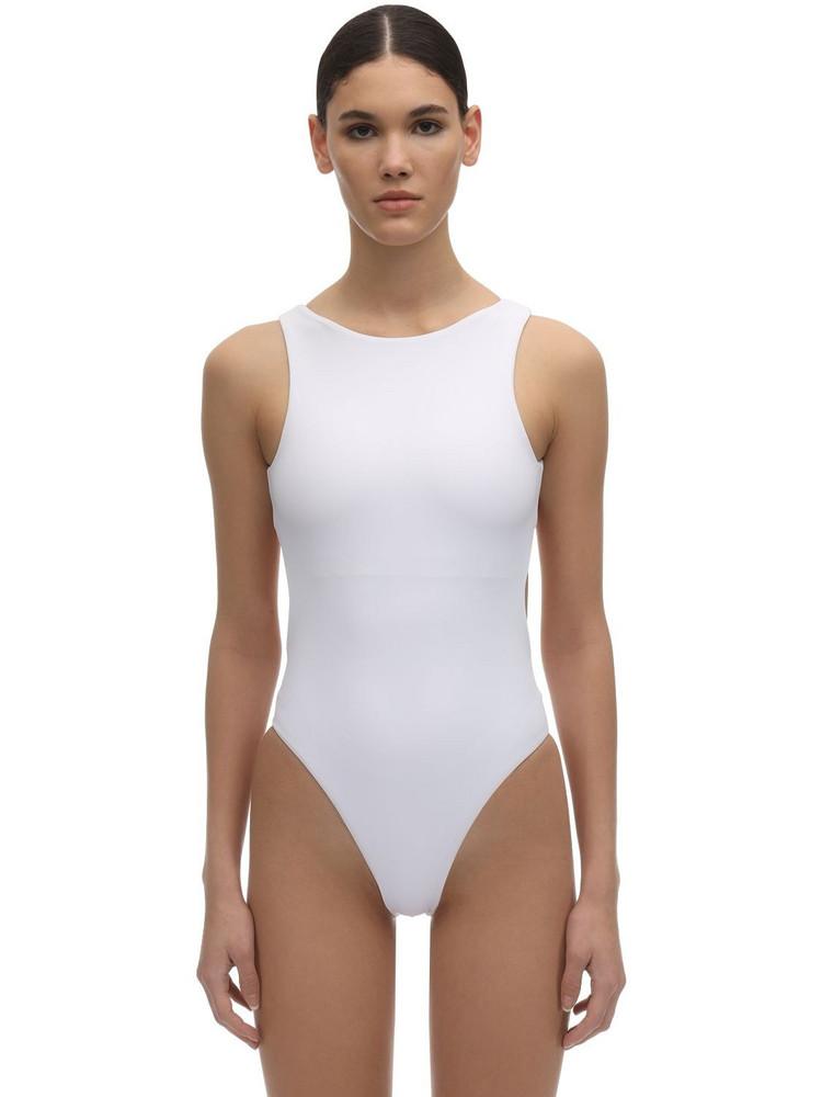 DOS GARDENIAS Heartbreaker Lycra One Piece Swimsuit in white