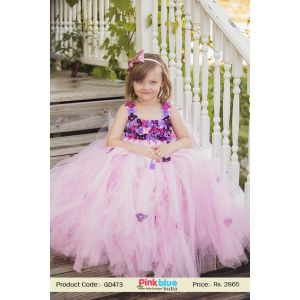 Children's Flower Girl Birthday Tutu Outfit 2017 for Special Occasion in Pink Color