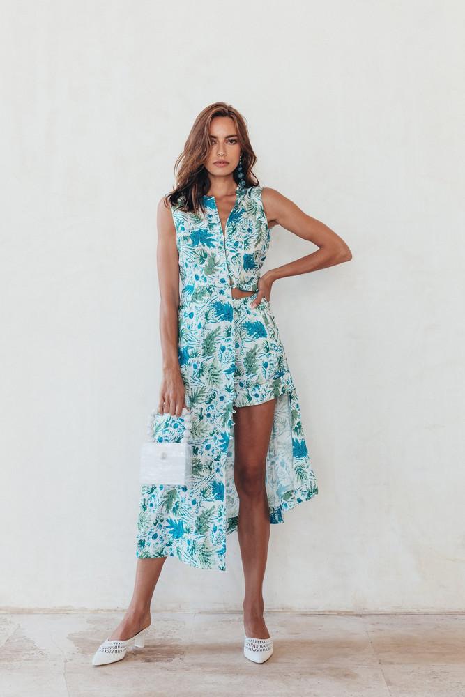 Cult Gaia Gia House Dress - Azure Multi                                                                                               $598.00 USD
