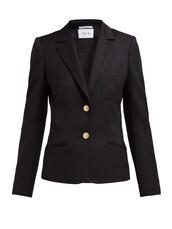 blazer,embroidered,black,wool,jacket