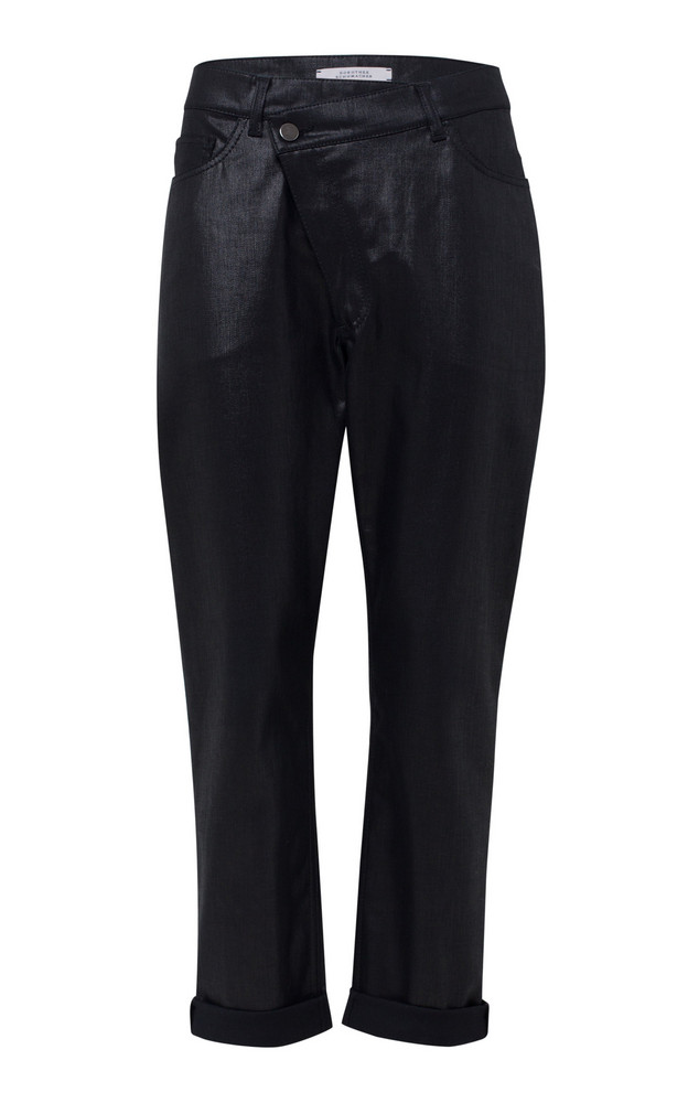 Dorothee Schumacher Boyfriend Denim Washed Pant in black
