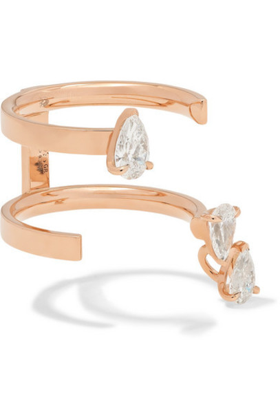 Repossi - Serti Sur Vide 18-karat Rose Gold Diamond Ring