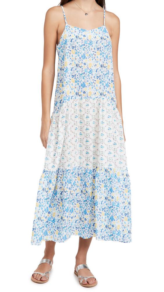 Playa Lucila Mix Print Maxi Dress in blue