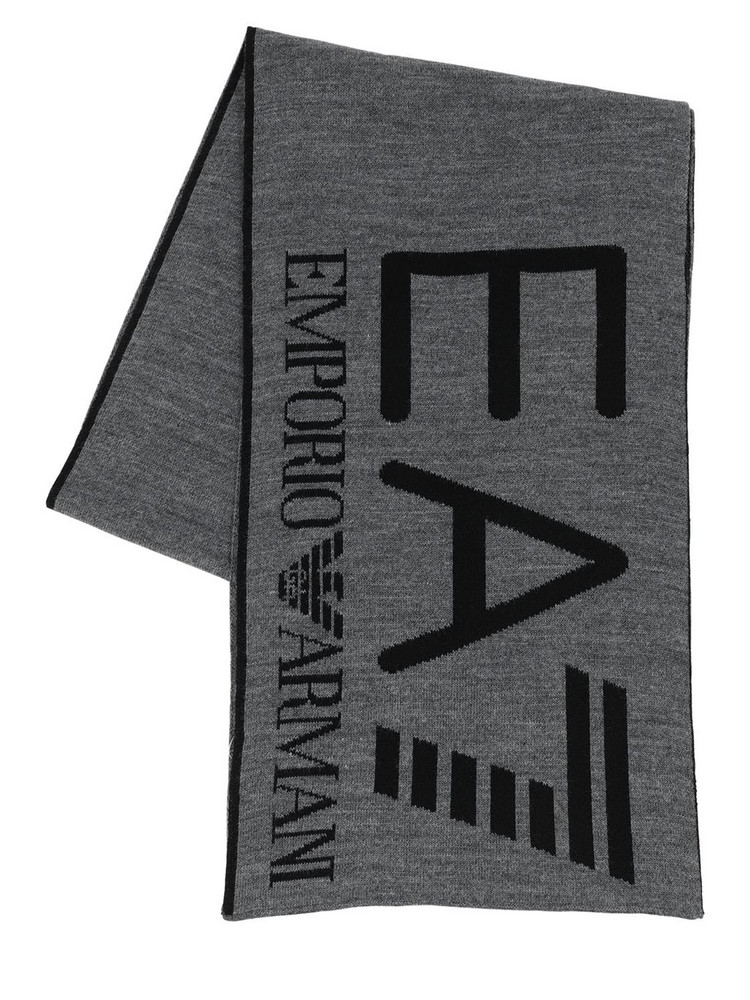 EA7 EMPORIO ARMANI Train Visibility Scarf in grey
