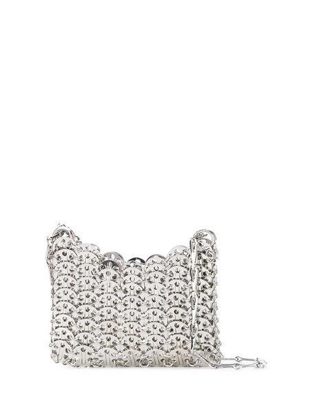 Paco Rabanne Nano 1969 shoulder bag in silver