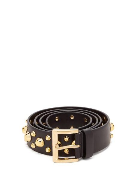 Prada - Studded Leather Belt - Womens - Black