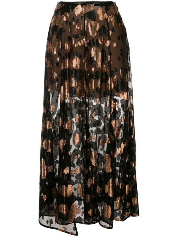 Petar Petrov Roxy jacquard maxi skirt in black