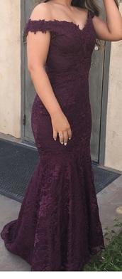 dress,plum prom,purple dress,prom dress,long prom dress