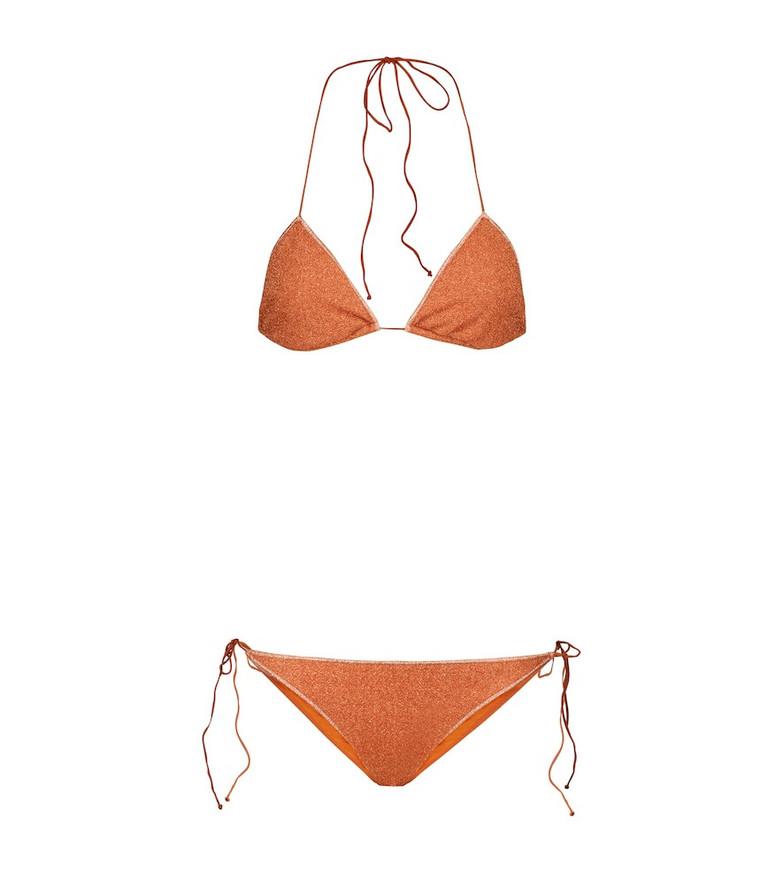 Oséree Exclusive to Mytheresa – Lumière triangle bikini in orange