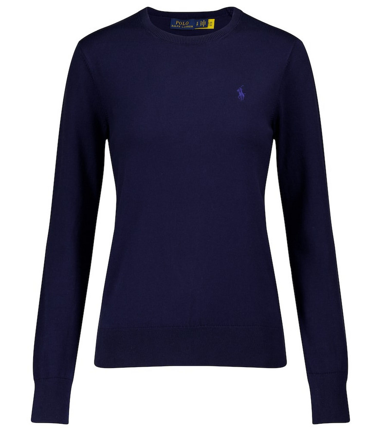 Polo Ralph Lauren Cotton-blend sweater in blue